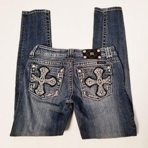 Miss Me Skinny Jeans Embellished Cross 27